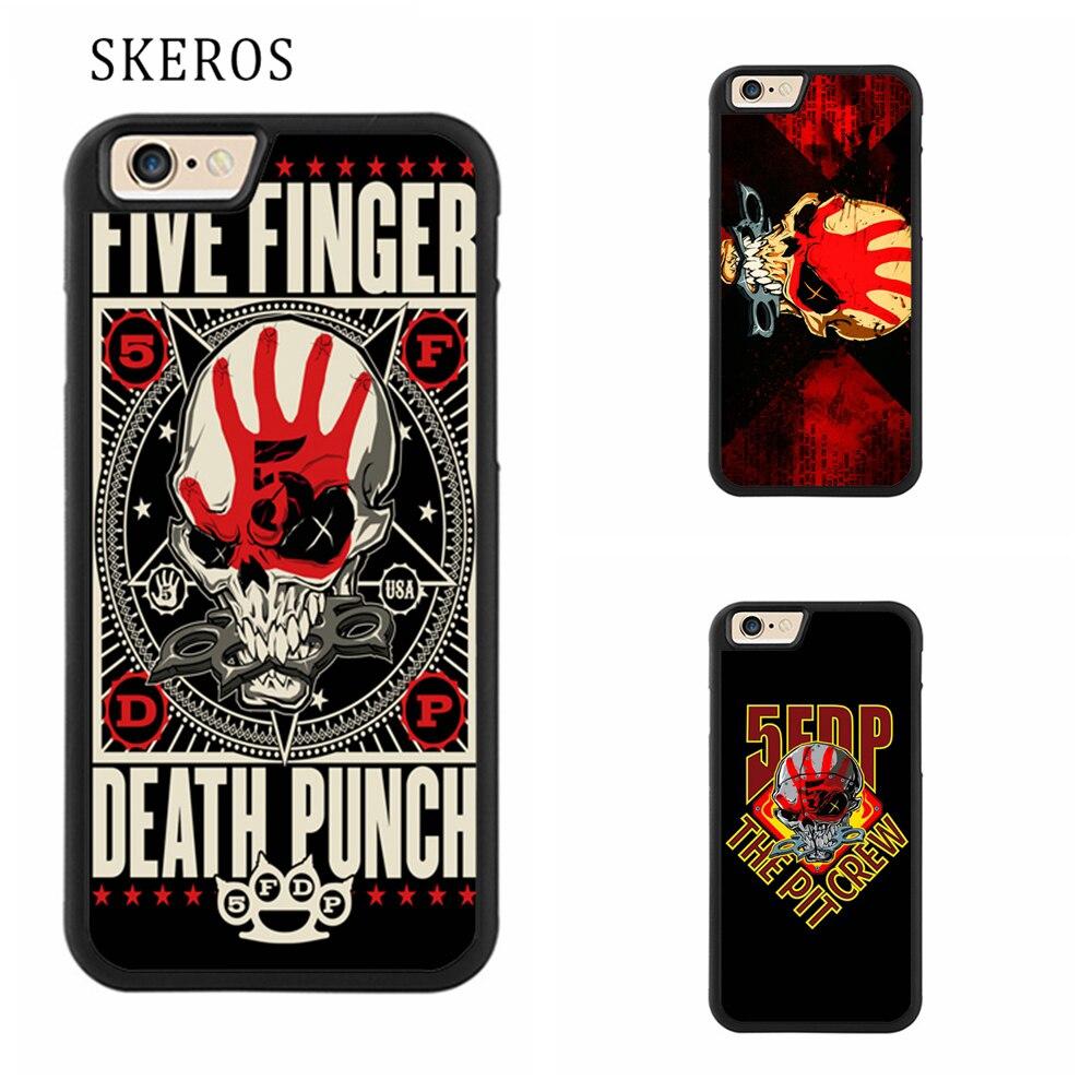 on sale e60e2 1ae49 SKEROS five finger death punch Protective cover phone case for iphone X 4  4s 5 5s 6 6s 7 8 6 plus 6s plus 7 plus 8 plus #qq134