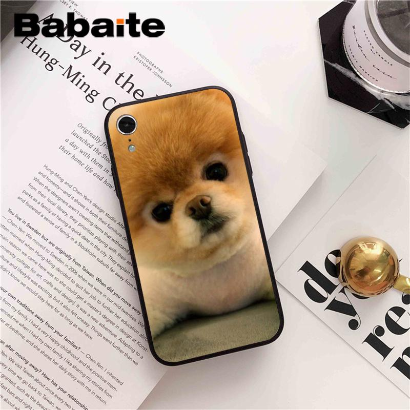 , Babaite Pomeranian dogs dog DIY Printing Drawing Phone Accessories Case for iPhone 8 7 6 6S Plus X XS MAX 5 5S SE XR 10 Cover