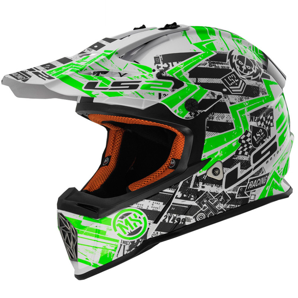 Ls2 Fast Mx437 Glitch Motocross Helmet Downhill Dh Mtb Atv Kask Dirt
