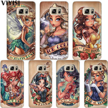 VIYISI Tattoo Princess Phone Case For Samsung Galaxy J7 J5 J3 A3 A5 2015 2016 2017 Prime S6 S7 Edge S8 S9 Plus Coque Shell Cover все цены
