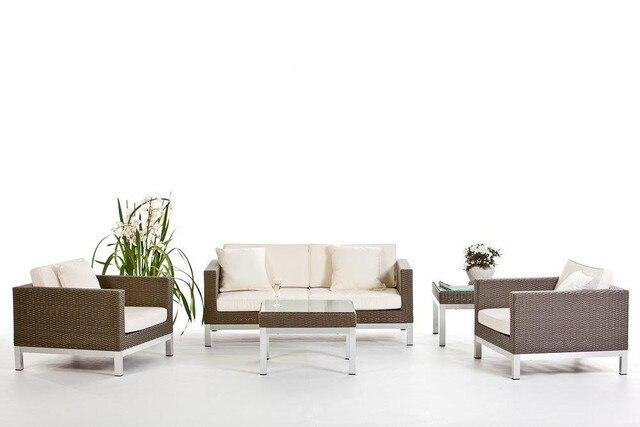 2017 Hot Sale Resin Wicker Living Room Furniture Drawing Room Sofa Set  Design