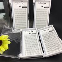 Seashine 4 trays C D krul 2D volume fans lash individuele wimper extensions premade fans wimpers valse wimpers