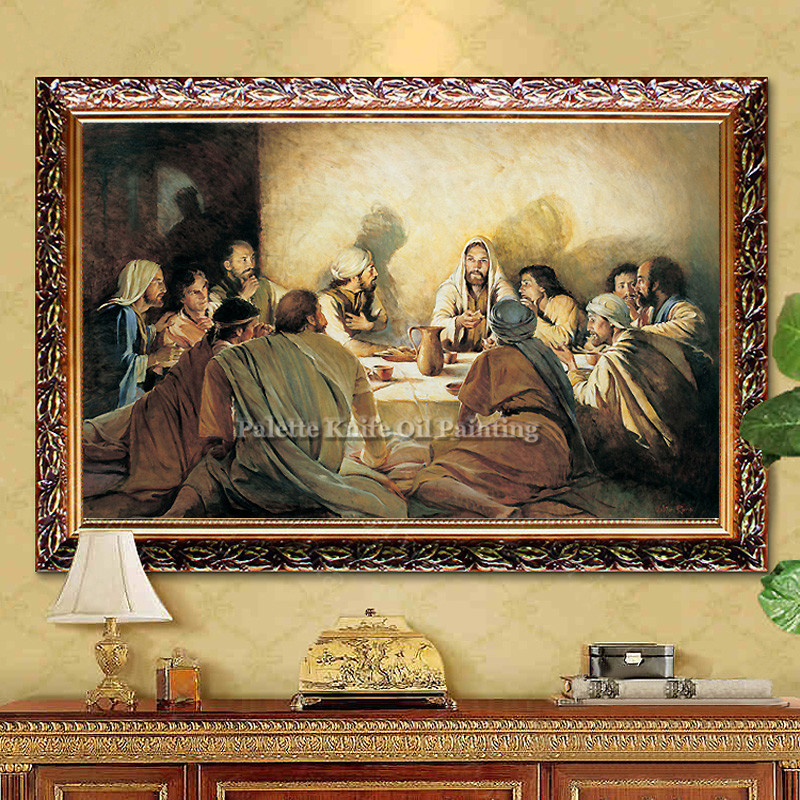 Jesus Christ Canvas Painting The Last Supper Christian Religious Painting Posters and Prints Wall Art Pictures for living room