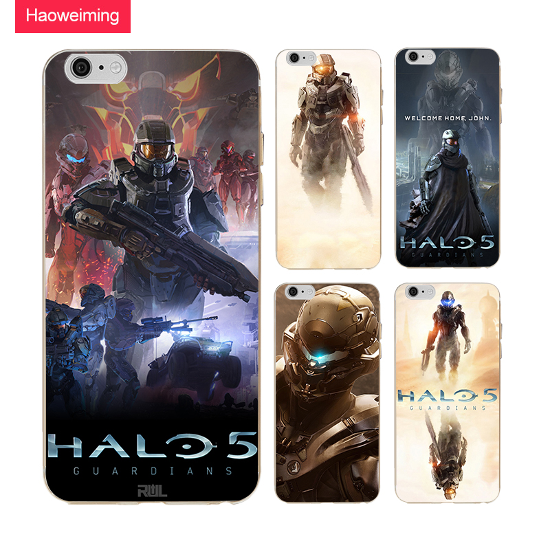 Haoweiming Halo 5 GUARDIANS Slim Silicone Soft TPU Cover Case For iphone X 4 4S 5 5S SE 6 6S 7 8 Plus #H129