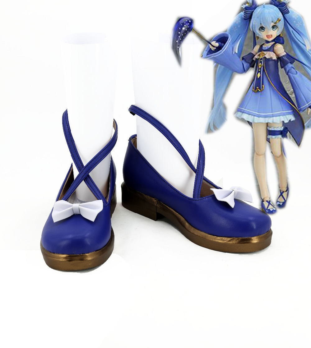 VOCALOID Hatsune Miku Star And Snow Miku MH Z Ver Princess Cosplay Shoes Boots