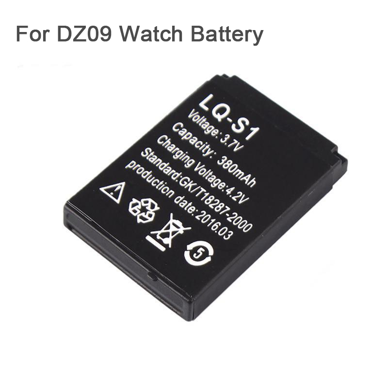 1PCS 380mAh Rechargeable Li-ion polymer <font><b>battery</b></font> For DZ09 <font><b>Smart</b></font> <font><b>Watch</b></font> <font><b>Battery</b></font> <font><b>Watch</b></font> <font><b>battery</b></font>