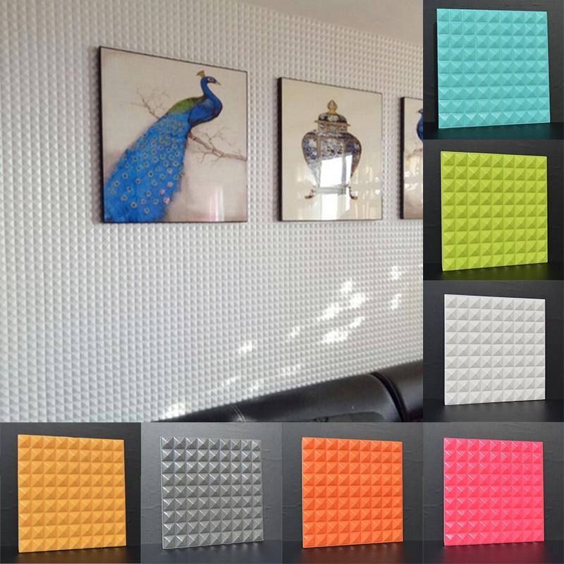 3d circular cone pvc panels wall stickers self adhesive for Room decor 3d self adhesive wallpaper