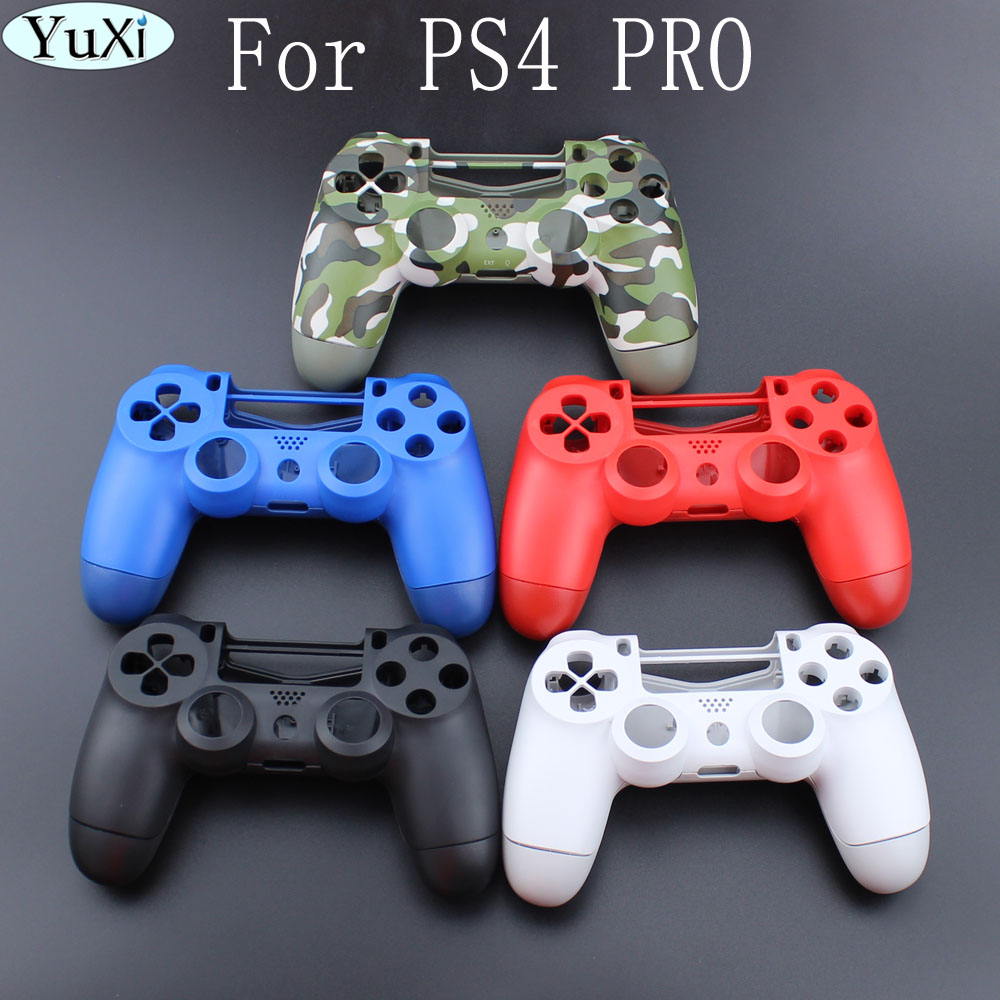 YuXi Camouflage green Housing Shell Case Cover For Playstation 4 PS4 Pro Controller JDM-040 Upper Bottom Shell