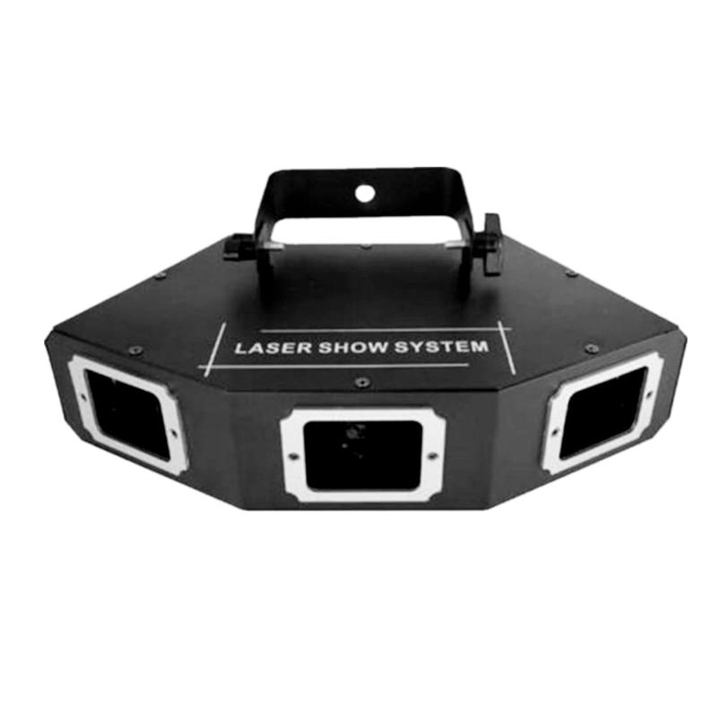 Niugul 3 Lens RGB Laser Lines Beam Scan Beam Light DJ Dance Bar Coffee Xmas Home Party Disco Effect Lighting Light System Show цена