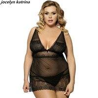 Jocelyn Katrina Brand Sexy Woman Lingerie Nightwear Plus Size Lingerie Transparent Sleepwear Pajamas Sexy Lace Wholesale