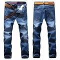 Бесплатная доставка Осень и зима плюс размер длинные брюки европейская версия супер большой толстый парень свободные прямые джинсы размер 38-50