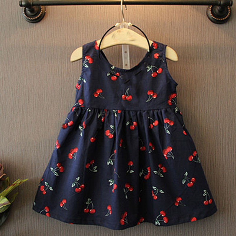 2016 Summer Baby Girl font b Dress b font Costume Casual Clothes font b Floral b