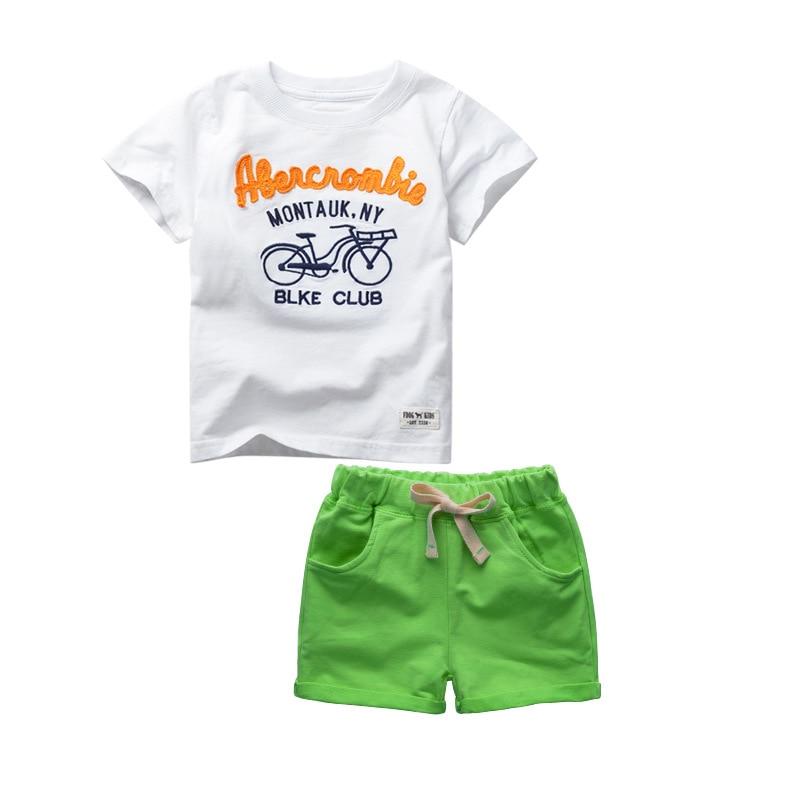 2018 nieuwe jongens kleding set korte t-shirt nieuwe kinderen jongens - Kinderkleding - Foto 5