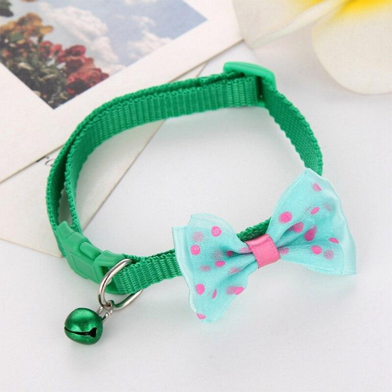 """1 шт., карамельный цвет, регулируемый галстук-бабочка, колокольчик, распродажа, ошейник """"галстук-бабочка"""", щенок, котенок, собака, кошка, домашнее животное, Прямая поставка - Цвет: GR1"""