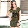 2016 Новое Прибытие Летний Стиль майка женщины Армия Зеленый Камуфляж Печати шорты юбки GK-9523A