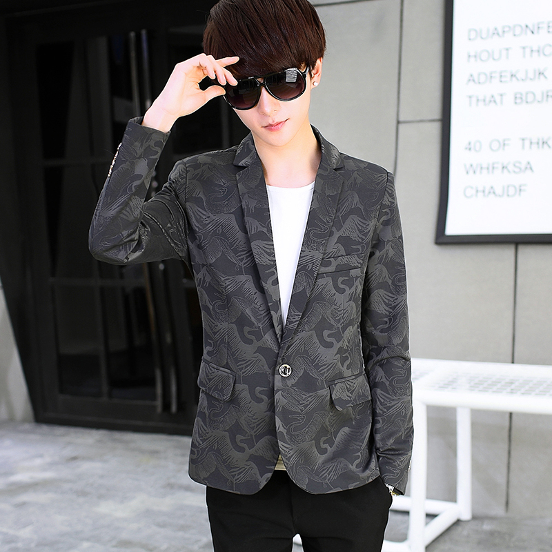 New Men's Casual Suit Men's Spring Slim Men's Suit Jacket Korean Small Suit Handsome Short Jacket