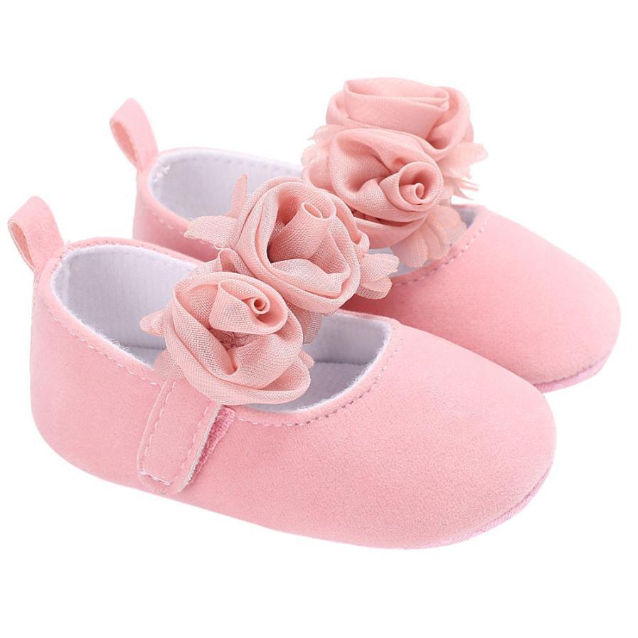 Baby Infant Kids Girl Soft Sole Crib Toddler Newborn Shoes UK F2