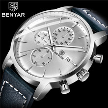BENYAR Mens Watches Business/Fashion Military/Sports/Chronograph Top Brand Luxury Wristwatch mens Reloj Hombre NEW
