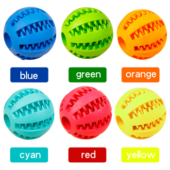 Interactive Pet Soft Dog Treat Chew Toy Ball with Extra-tough Rubber 3