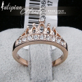 Iutopian Brand Genuine Austrian Love Crown Rings For Man With Austrian Crystal Stellux High Quality #RG94929