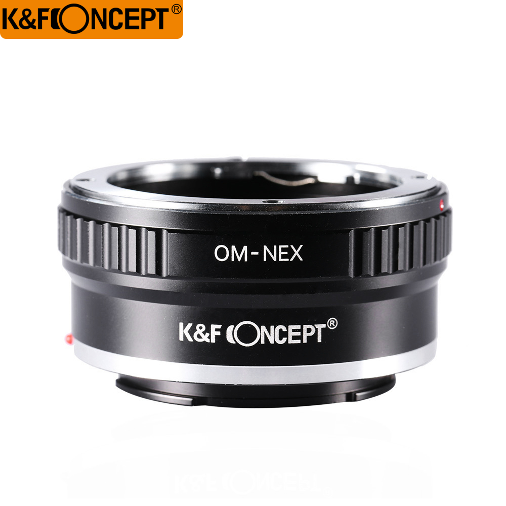 K&F CONCEPT Lens Adapter Ring for Olympus OM Lens to Sony NEX E mount Alpha A5000 7R A3000 A7 A7R A6000 Camera new mount adapter for sony alpha minolta af lens to for sony e mount nex adapter a7 a7r nex 5t a5000 a6000