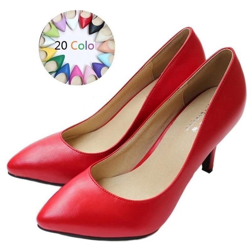 ФОТО 2017 Size 34-41 Sheepskin Women's High Heels Women Pumps Sexy Bride Party Thin Heel Ladies Shoes Woman Chaussure Femme