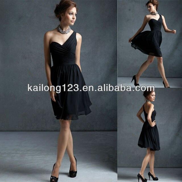 Fantastic Sweetheart Knee Length A Line Black Pleated Bodice Chiffon