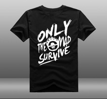 Mens Casual 2015 Movie Mad Max 4 Fury Road ONLY THE MAD SURVIVE Short Sleeve Cotton T-shirts Tee Shirts Tops
