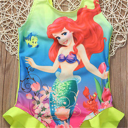 Купальный костюм Ариэль для маленьких девочек, купальный костюм, комплект бикини, танкини 5