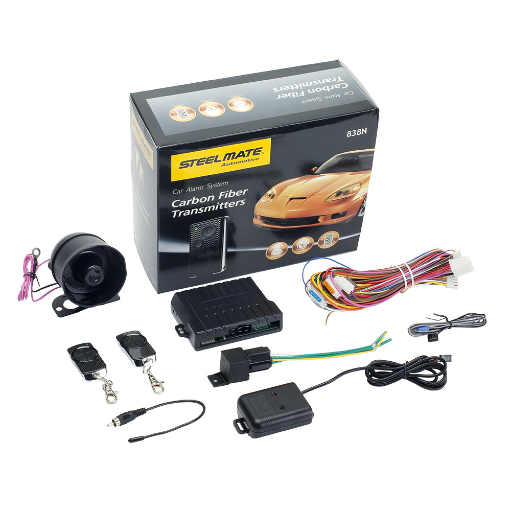 steelmate 838n 1 way car alarm system match central locking window closer anti hijacking [ 1000 x 1000 Pixel ]