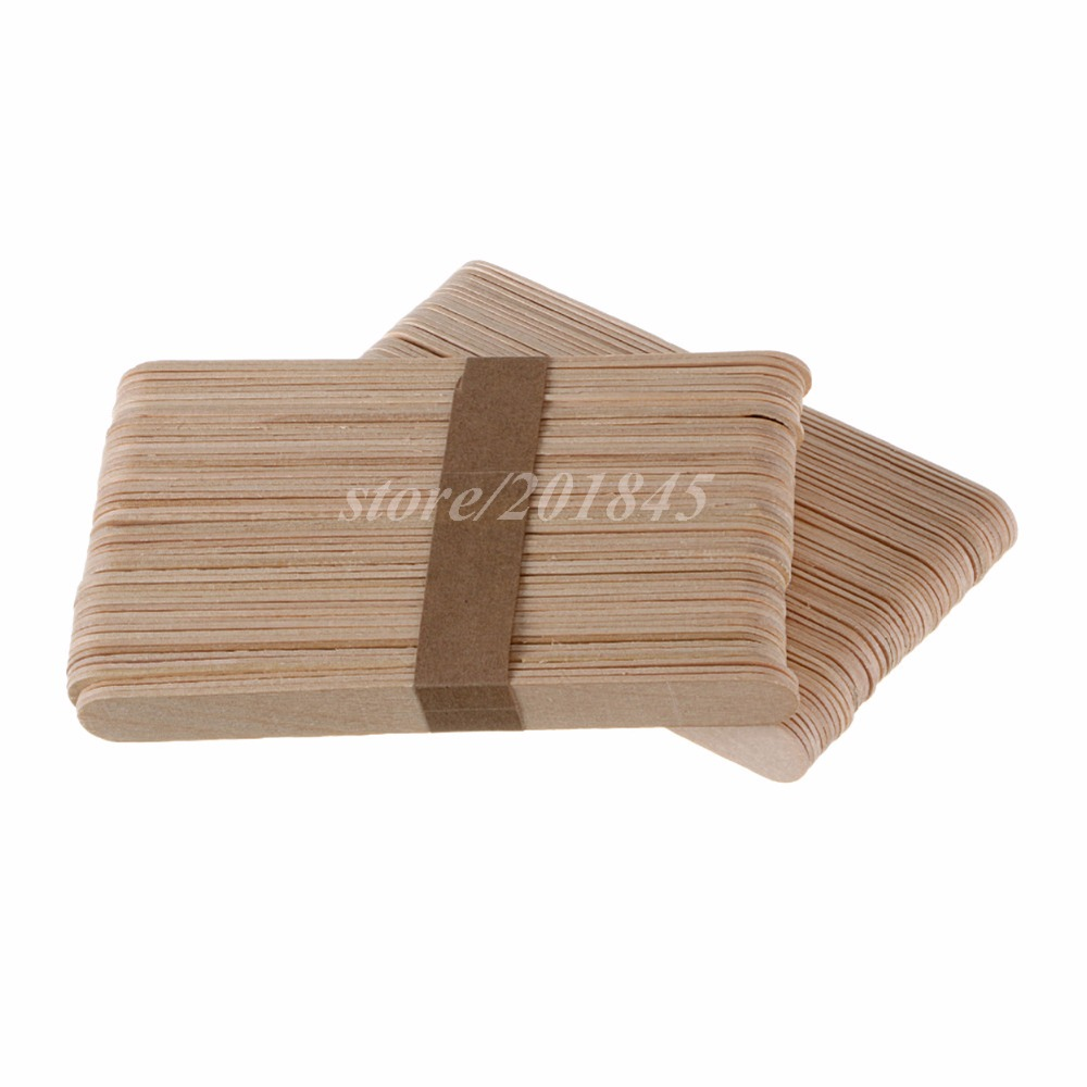 Wholesale 1000Pcs/Pack Medical Disposable Sterile Waxing Tongue Depressor Wax Stick Spatula For Oral Examination Birch-in Massage & Relaxation from Beauty & Health    2