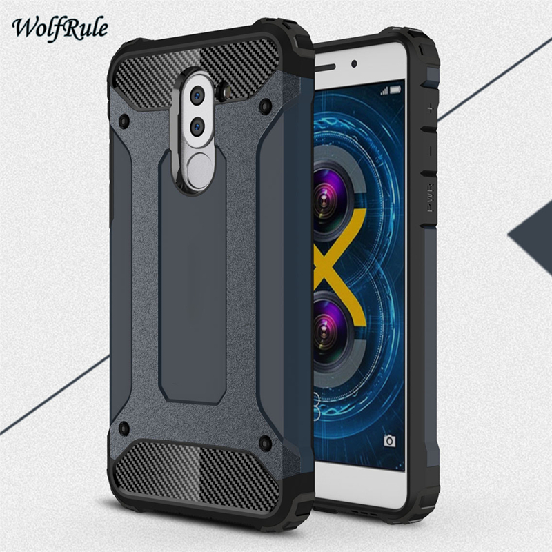 WolfRule sFor Cover Huawei Honor 6X Case Shockproof Armor Back Cover TPU & PC Phone Case ...