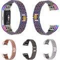 Fitbit Charge 2 Ремешки для наручных часов  Сменные Металлические Регулируемые браслеты для Fitbit Charge 2 HR Heart Rate  серебристый  черный  розовое золото