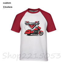 Men USA irulu victory motorcycles t shirt v3 banner victorylip accessories hommer led headlight t-shirt male tshirt KTM camiseta(China)