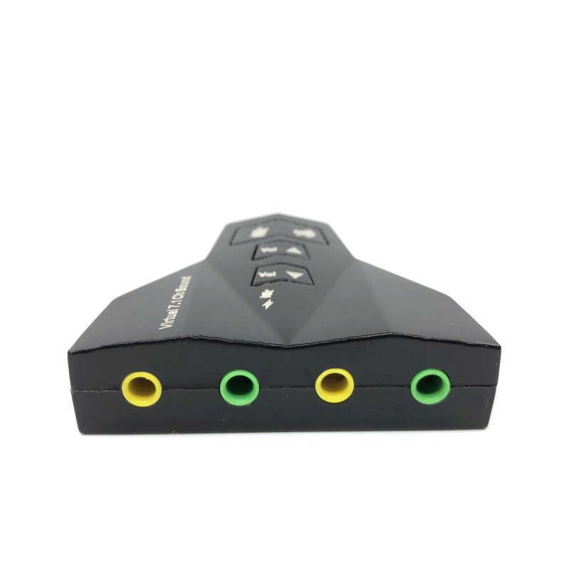 USB サウンドアダプタ外部仮想 7.1 チャンネル 3D サウンドカード柔軟なオーディオ · インターフェースノート Pc の Usb 2.0 アダプタ