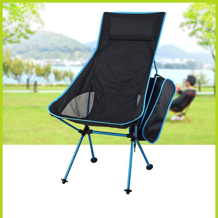 Chaise de Camping de loisirs de lune pliable ultralégère Portable avec sac pour la randonnée en plein air voyage pique-nique barbecue plage pêche
