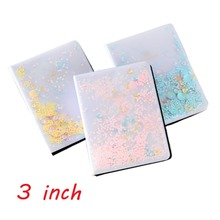 64 Pockets Mini Colorful Quicksand Sequin Photo Album For Fuji Instax Mini 7s 8 9 25 50 70 90 SP1 Camera Film or 3 inch Photo
