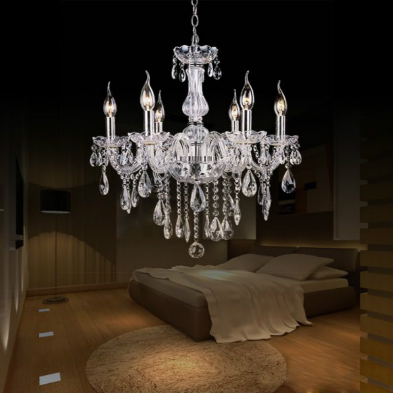 ФОТО Crystal Ceiling Chandelier Home For Living Dining Room Lamp Indoor Home Decoration Bedroom Lights Crystal LED Lamp #5-21