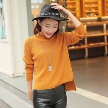 2017 spring of new womens T-shirt irregular gold needle cashmere sweater shirt female leisure