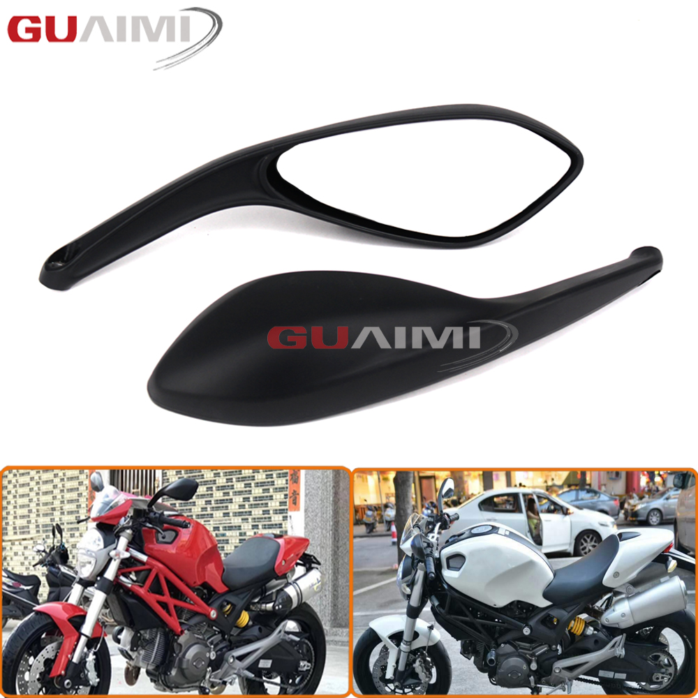 For DUCATI MONSTER 695 696 796 1100/S/EVO Motorcycle Accessories Rear Side View Mirrors Brand New front brake fluid reservoir cover cap for ducati monster 695 monster 696 monster 796 hypermotard 796 motorcycle accessories
