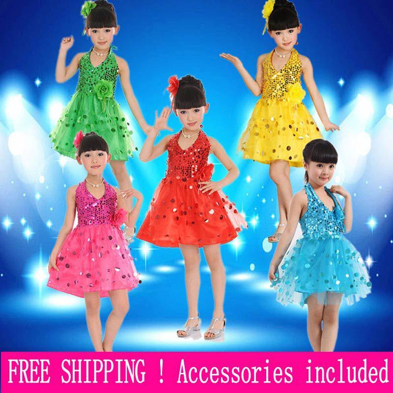 Kindertag Kinder Tanzkleidung moderne Mädchen Performance-Kleidung - Bühnen- und Tanzbekleidung - Foto 1