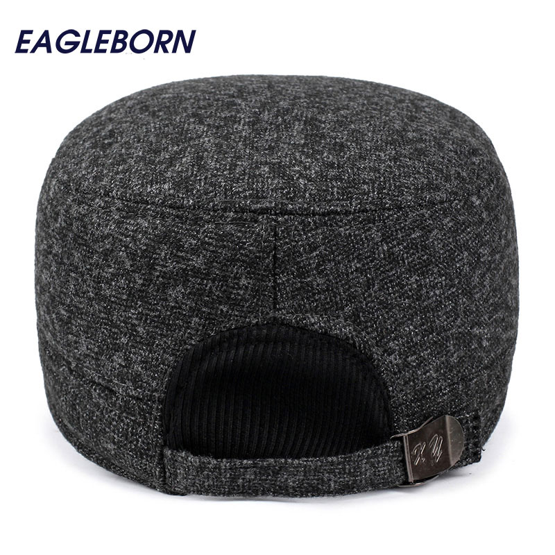 Товар EAGLEBORN Winter hats men caps hat with earflaps keep warm flat roof baseball  caps old men thicken snapback Russia casquette - 2fa313ebdfb7