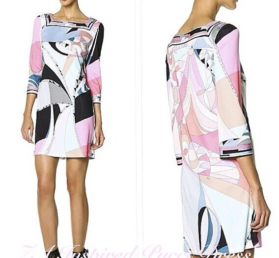女性の新しいイタリアの有名なブランドcoloursパーティーもたらした美しい印刷編みスリムファッションdress  グループ上の レディース衣服 からの ドレス の中 1