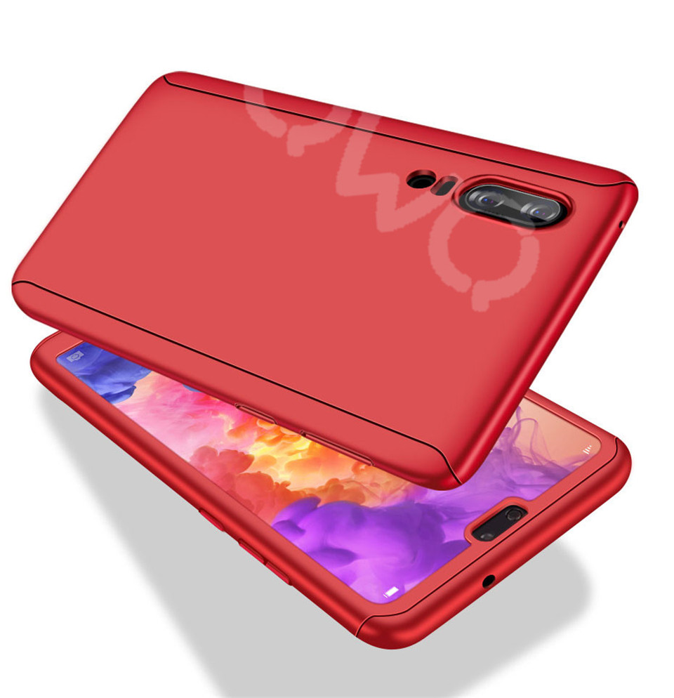 360 Degree Full Protective Phone Case For Huawei P20  P20 Lite P20 Pro Cover Case For Huawei P20 Lite P10 P10 Lite P10 Plus Mate 10 Lite Mate 10 Pro Matte Shell Tempered Glass 10