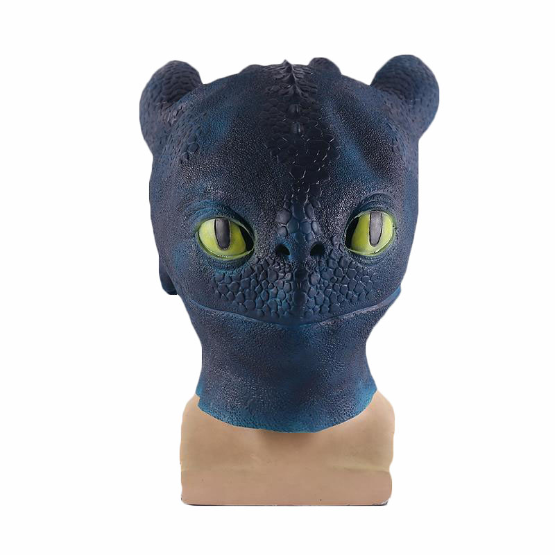 How To Train Your Dragon Costume Night Fury Toothless Cosplay Mask The Hidden World Latex Masks Full Face Helmet Halloween Props