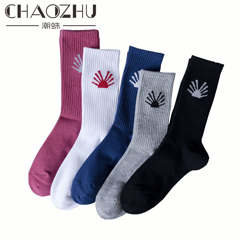 Fashion Style Chaozhu 5 Pairs/lot Men Fashion Street Wear Socks Sneakers Footwear Skateboard Beach Casual Young Trendy Socken Hip Hop Men's Socks