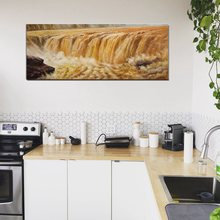Famous Scenic Spots in China  Yellow River Magnificent Painting Canvas Cool Wall Art Decor for Office Home Room Best Gift