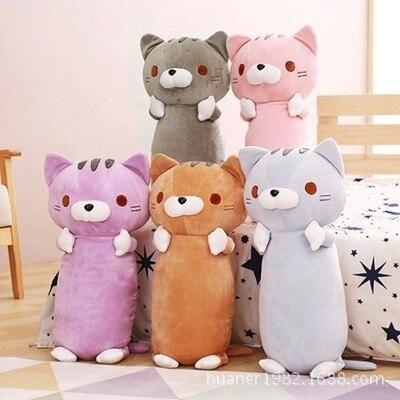 55 cm Lembut bantal kucing boneka kucing mainan mewah bantal sofa bantal  hadiah ulang tahun Pink 55546a5791