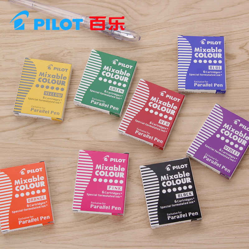 Pilot art pen parallel pen 12 color ink sac ink cartridges ICP3 IRFP 6S black blue red brwon yellow green 6/12 pieces велосипед forward скиф 20 2013