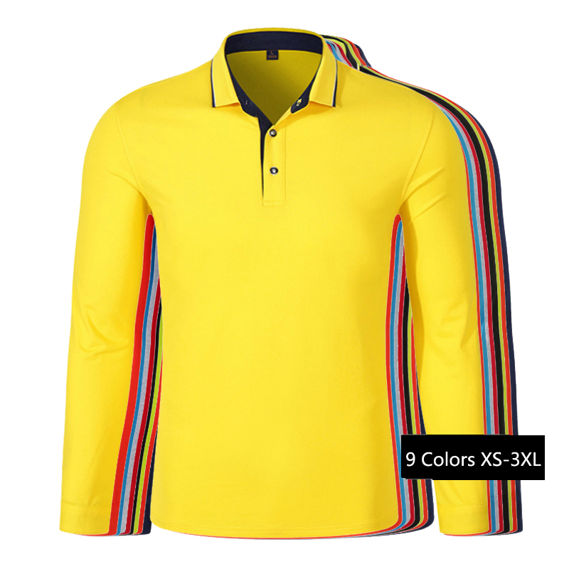 Free shipping 2018 Autumn New men's long sleeve   polos   shirts cotton casual mens lapel   polos   fashion slim mens clothing tops